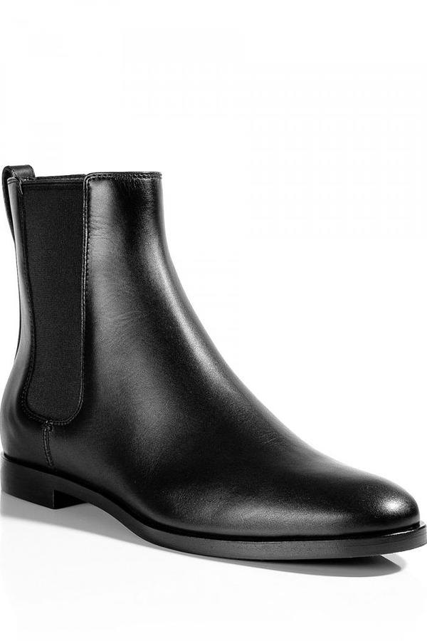 Sergio Rossi Black Flat Ankle-Boots