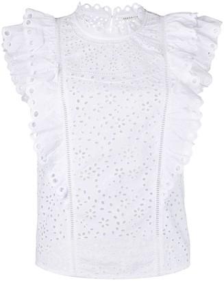 Veronica Beard Calisata embroidered top