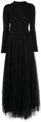 Fabiana Filippi Sparkly Knit Turtleneck Dress