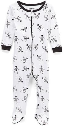 Leveret Footies - White Skeleton Footie Pajamas - Infant