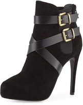 Charles David Fame Leather and Suede Platform Bootie,
