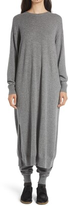 The Row Anibale Long Sleeve Cashmere Maxi Sweater Dress