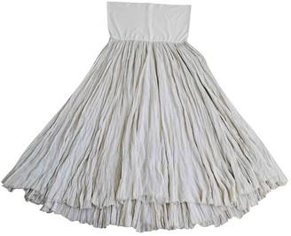 Donna Karan Beige Silk Skirt for Women