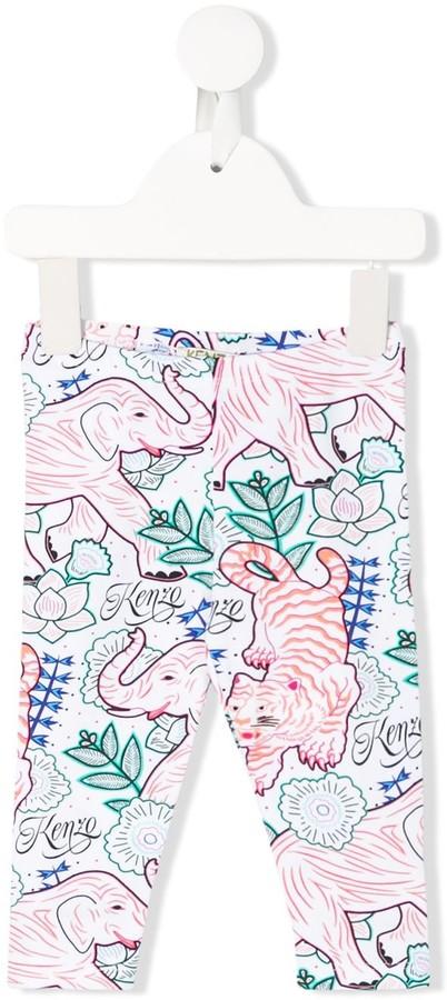Kenzo Kids Jungle Print Leggings