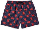 Vilebrequin Moorea Mid-length Printed Swim Shorts - Storm blue
