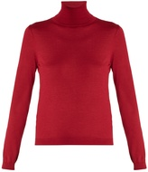 RED Valentino Roll-neck cashmere and silk-blend sweater