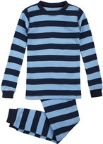 Petit Lem Big Boys' Ocean Stripe 2 Piece Pajama Set