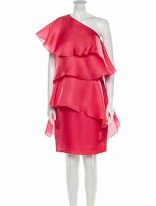 Lanvin Silk Knee-Length Dress w/ Tags Pink