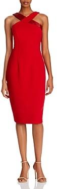 Adrianna Papell Crisscross Bead-Detail Sheath Dress