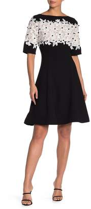 Shani Fit and Flare Crepe Dress