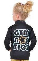 Stretch Is Comfort Girl's Glitter Gymnastics Jacket