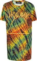 DSQUARED2 tie-dye logo print T-shirt dress
