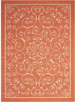 Nourison Home & Garden Orange Indoor/Outdoor Area Rug Rug