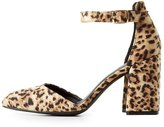 Charlotte Russe Ankle Strap Pointed Toe Pumps