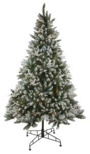 Northlight 6.5' Pre-Lit Frosted Sierra Fir Artificial Christmas Tree - Clear Lights