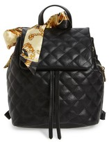 BP Quilted Faux Leather Backpack - Black