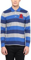 American Crew Men's Premium Jersey Long Sleeve Stripes Polo T-Shirt- L (AC258BFS-L)