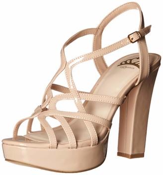 Fergalicious Women's PRISCELLA Heeled Sandal Beige 6 M US