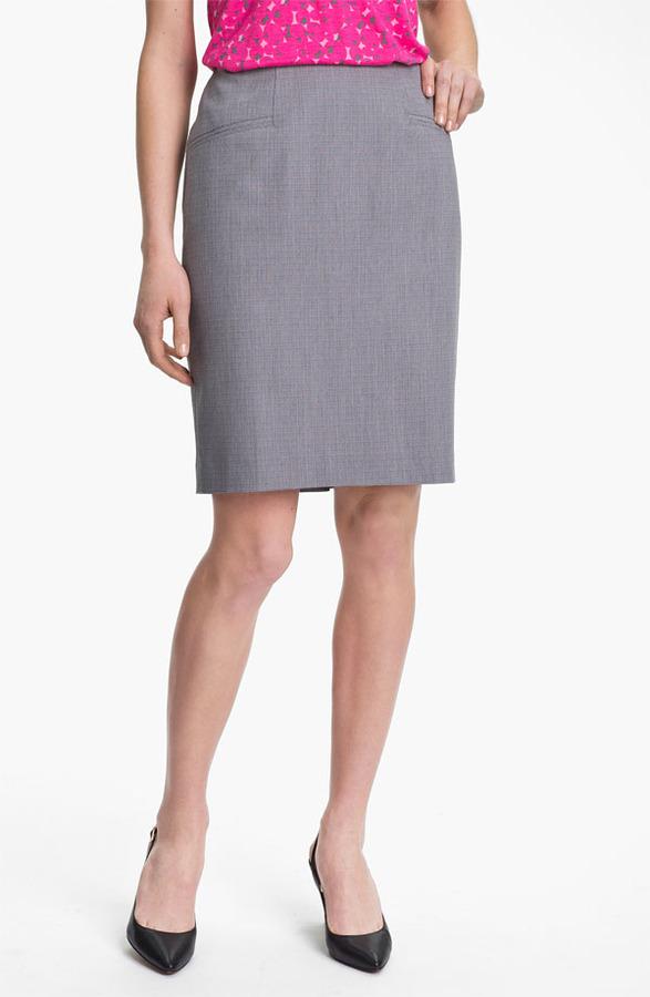 Halogen Tonal Texture Suit Skirt