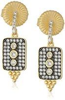 Freida Rothman Contemporary Deco Pave Drop Earrings, Sizes