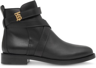 Burberry Monogram Motif Strappy Ankle Boots