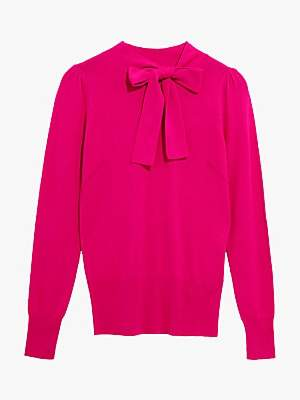 Oasis Pussy Bow Knit Jumper
