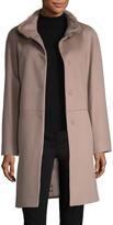 Cinzia Rocca Women's Fur Collar Long Coat