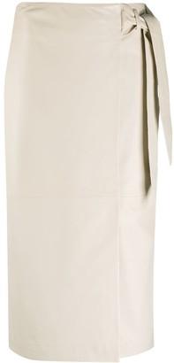 Arma Tie-Fastening Wrap Skirt