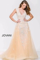 Jovani Long Dress With Lace Appliques 40408