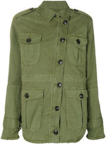 Closed off centre cargo jacket - women - Polyester/Viscose - S