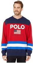 Polo Ralph Lauren Color Block Polo Active Sweatshirt (Cruise Navy Multi) Men's Clothing