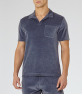 Reiss 1971 Miami VELOUR POLO SHIRT