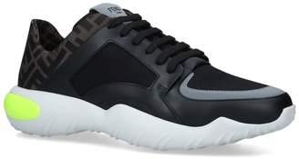 Fendi Mixed Textile Sneakers