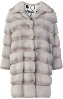 Simonetta Ravizza fur panelled coat