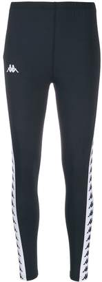 Kappa logo tape leggings