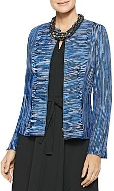 Misook Melange Knit Zip Jacket