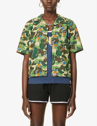 BAPE ABC Flower graphic-print cotton shirt