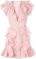 Giambattista Valli Ruffle Trim Silk Dress