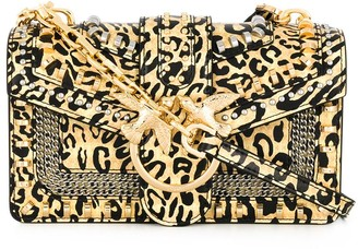 Pinko Love leopard print crossbody bag