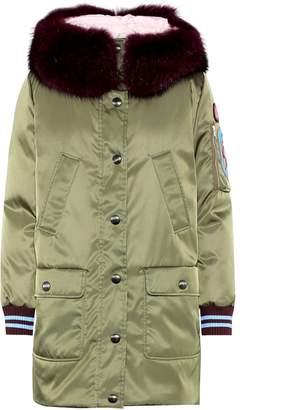 Miu Miu Fur-trimmed down coat
