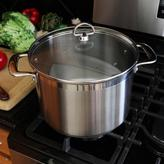 Chantal Induction 21 Steel 8 qt. Stock Pot with Glass Lid in Stainless Steel