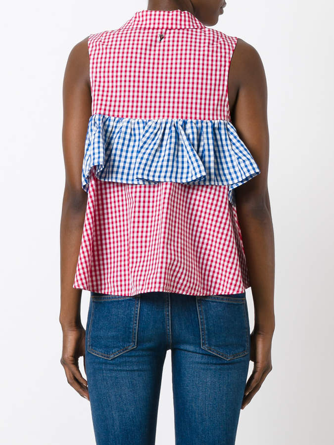 Dondup checkered ruffle blouse