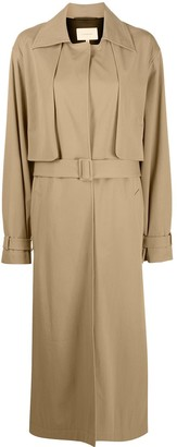 LA COLLECTION Single-Breasted Trench Coat