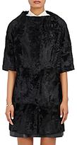 Barneys New York Women's Astrakhan Collarless Jacket-BLACK, BLUE