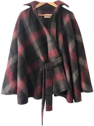 Valentino Burgundy Wool Coat for Women Vintage
