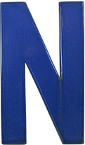 Rejuvenation Blue Enamel Sign Letter N C1950