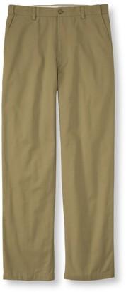 L.L. Bean Men's Lined Double LA Chinos, Natural Fit Hidden Comfort Waist Plain Front