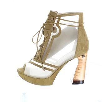 Nicholas Kirkwood Brown Suede Ankle boots