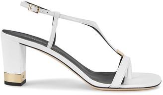 Giuseppe Zanotti Helmut 70 white leather sandals