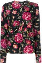 Dolce & Gabbana cashmere rose print cardigan - women - Cashmere - 42